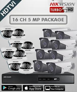 paket cctv hikvision 16 CH 5 MP